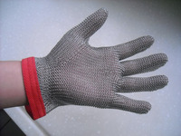 Stainless steel workplace safety gloves