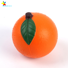 PU foam orange stress ball toys promotional pu balls