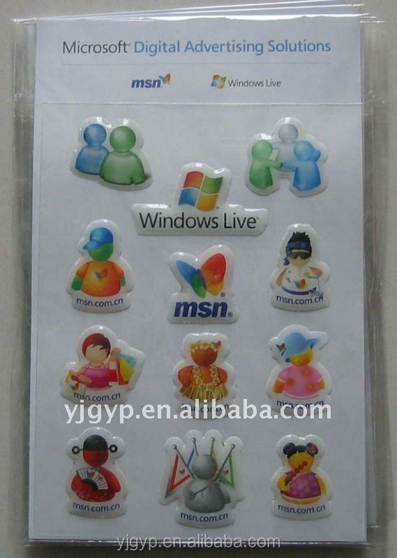 Recyclable Non-toxic Mobile phone Puffy Stickers