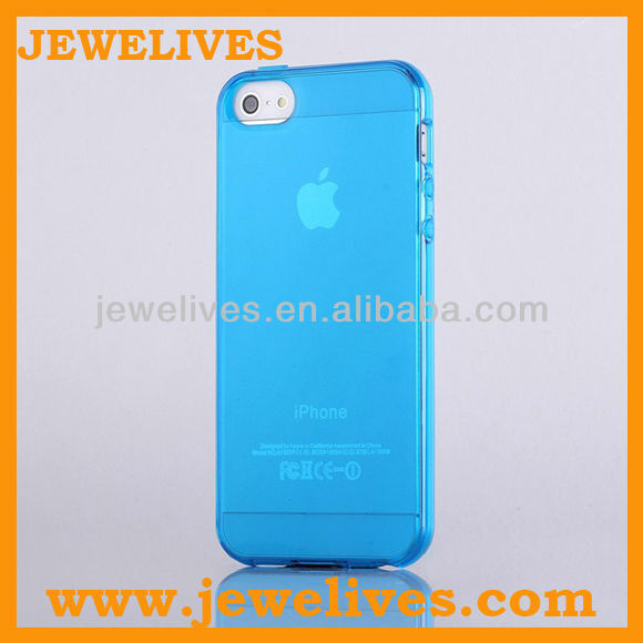 Sky Blue Slim Transparent Ultra Thin Matte Hard Case Cover Clear TPU Frame Hybrid For iPhone 5