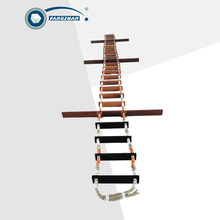 Wood climbing lifeboat Embarkation Rope Ladder on marine