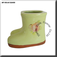 ceramic boot flower pot