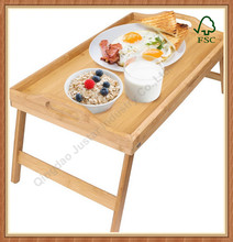 Unfinished Cheap Wholesale solid wood foldable bed tray