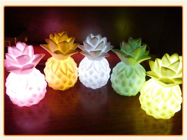 Pretty pineapple shape warm lighting sleep light battery operated baby room bed night light