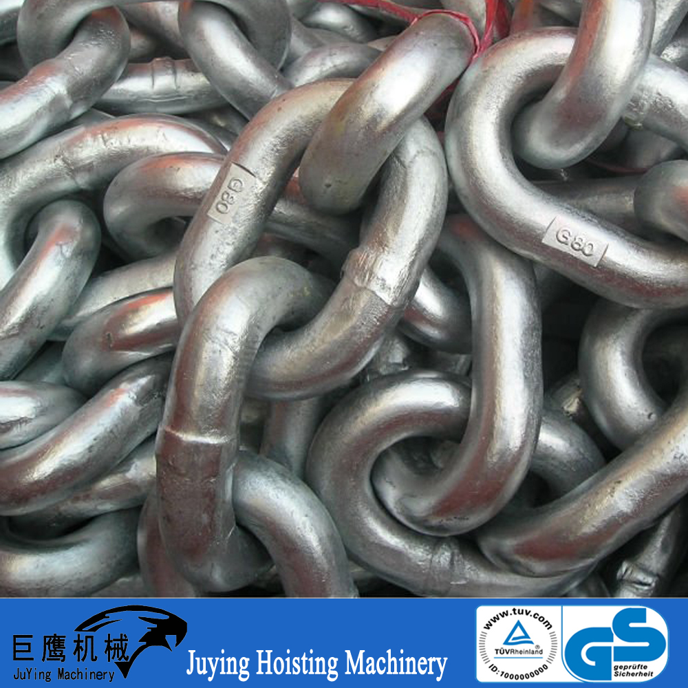 Chain Factory Manufacturing g80 galvanized rust-proof link chain