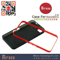 fashionable red black PC hard cover case for blackberry z10