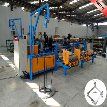 high quality Stainless steel fully-automatic chain link fence machine for construction equipment