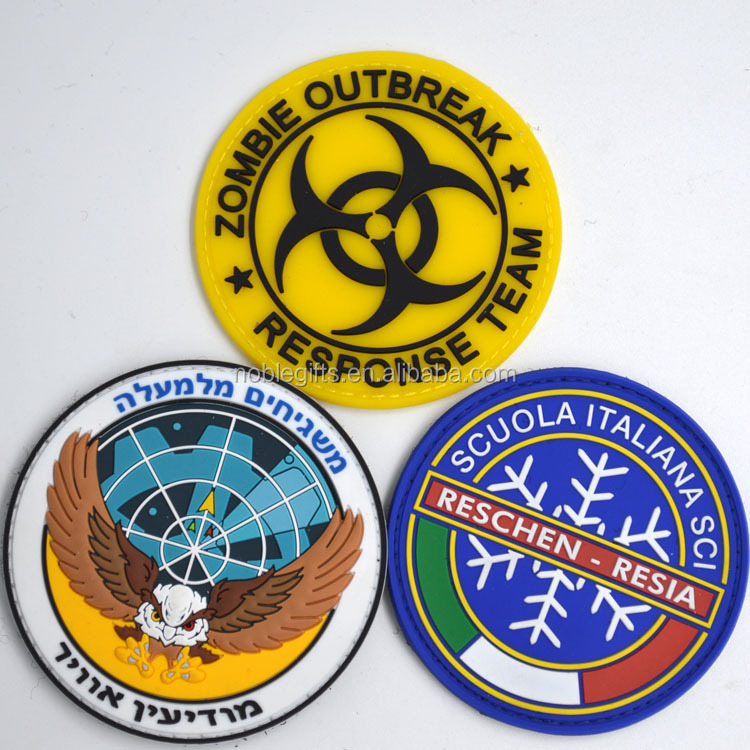 Custom pvc patch attractive envirmental NO MOQ rubber patch with factory price custom logo