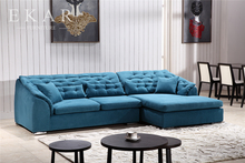 Sale turkey teak wood best quality cheap blue loveseat couch extra large fabric l sleeper sofa bed