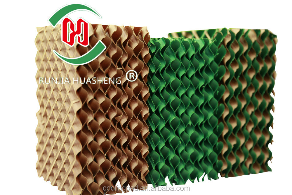 2016 newest evaporative cooling pad corrugated cellulose cooling pad air cooler
