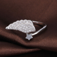 basic pattern design wing style tat display jewelry ring