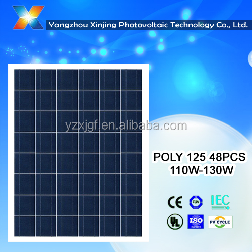 High efficiency poly solar panel 110 watt solar power for home use