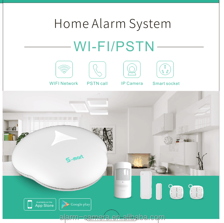 Nice design wifi Smart home hub and wifi security alarm system with Multi-language voice prompt IOS Android APP application