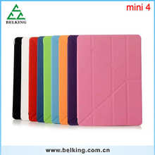 For ipad Mini 4 Triple Foldable Transformers Leather Case Stand Holder For iPad Mini 4