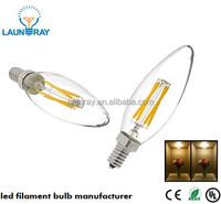 Best Selling Led Products in Americ E12 UL Dimmable Led Filament Candle 2W 3W 4W Led Bulb