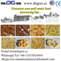 Puff corn flour snacks machines /equipments /extruder