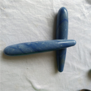 Skinny natural blue aventurine for sexy women vaginal massage artificial penis toy yoni wands