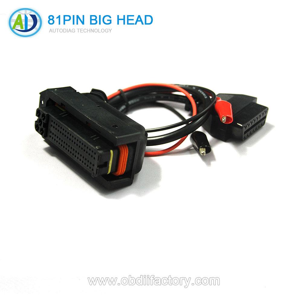 Первоначально поставка фабрики 81Pin большая голова разъем для БД автомобили разъем ЭБУ автомобильный разъем