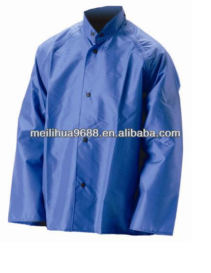 Blue Top Quality Waterproof Hood Backpack Rain Coat