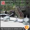 Garden Decoration Fiberglass Shark Sculpture