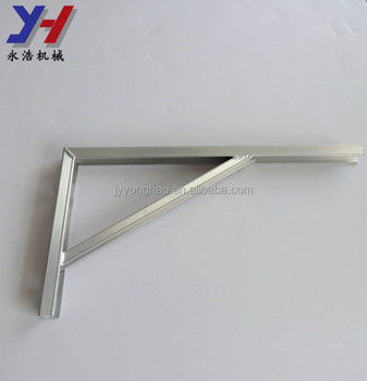 OEM ODM factory manufacture punched part right angle aluminum bracket air conditioning bracket as your drawing