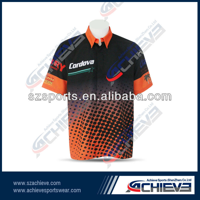 2013 new design sublimation racing shirts
