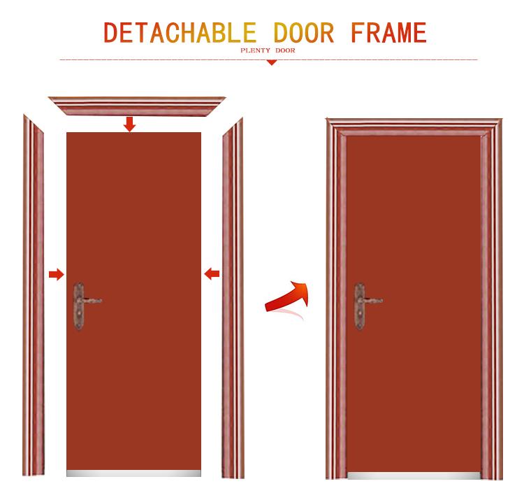 Hot sale exterior door steel security door front door for Steel door design