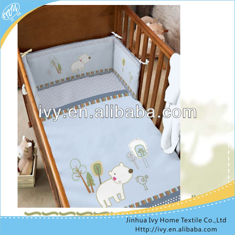 High quality baby crib bedding set oeko tex <strong>100</strong>