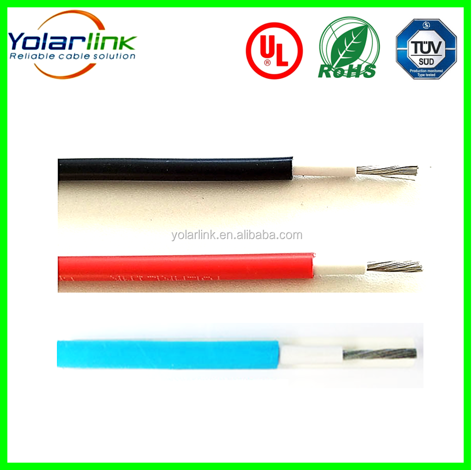 PV solar cable 1x6mm2 solar wire, XLPE jacket, tinned copper core for solar power system.
