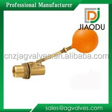 Zhejiang/Taizhou/Yuhuan yellow brass color manufacture 5f6r city hot brass water float small ball control valve