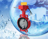 Fire Signal Worm Gear Operated Butterfly Valve