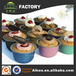 Colorful disposable small aluminum foil cake baking cups