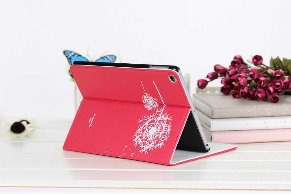 Low MOQ Dandelion Tablet Case For iPad mini 4 Leather Case Excellent Book Cover For iPad mini 4 dandelion wallet case