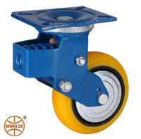 heavy duty hummer pu shock absorption industrial caster wheels