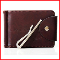 Free Shipping CHUFENG PU Leather Men's Wallet Money Clip Card Holder Slim Wallet