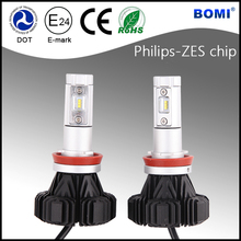 Fanless Car LED headlight H8 H9 H11 Toyota wish headlight and led headlight Jeep with DOT E-mark CE RoHS