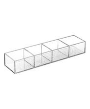 4 divided clear acrylic tea bag storage box
