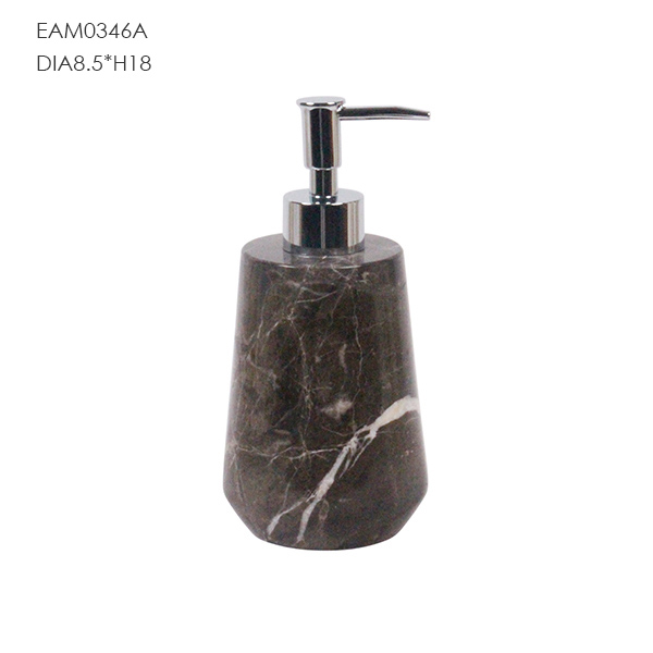 Bathroom accessories black marble natural stone soap dispenser
