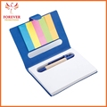 Custom Logo Five Colors Sticky Notepad 11.4*8.6 Sticky Note With Recycled Ballpoint Pen