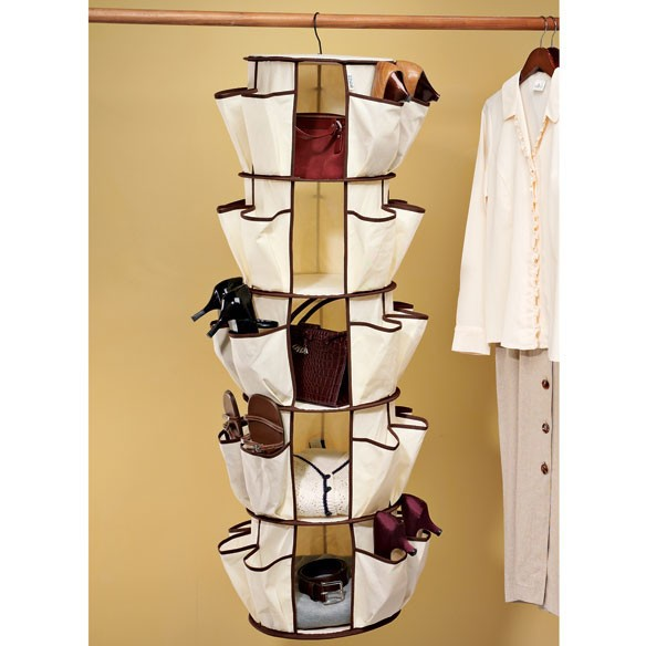 5 Tier Shoes Round hanging Smart Carousel Organizer For Home Storage Organizer