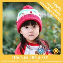 Hot sell Knitted bright color new style mexican baby hat beret girl hat fur kids hat