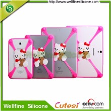 Elastic silicone tablet PC case