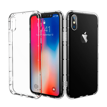 Amazon Barcode Print Logo Smart Phone Shock Proof Crystal Clear TPU Case Back Cover for Apple iPhone X