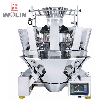High speed packaging machine with 14head multihead weighing filler for sugar popcorn snack foods