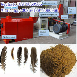 Professional manufacturer chicken animal feather meal making machine production line