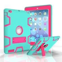 Hot selling High Quality TPU+PC Combo Robot Tablet Case For iPad 2/3/4 Case