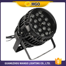 High quality wholesale custom 10-60 degree zoom 18X10W waterproof led par can lights stage light