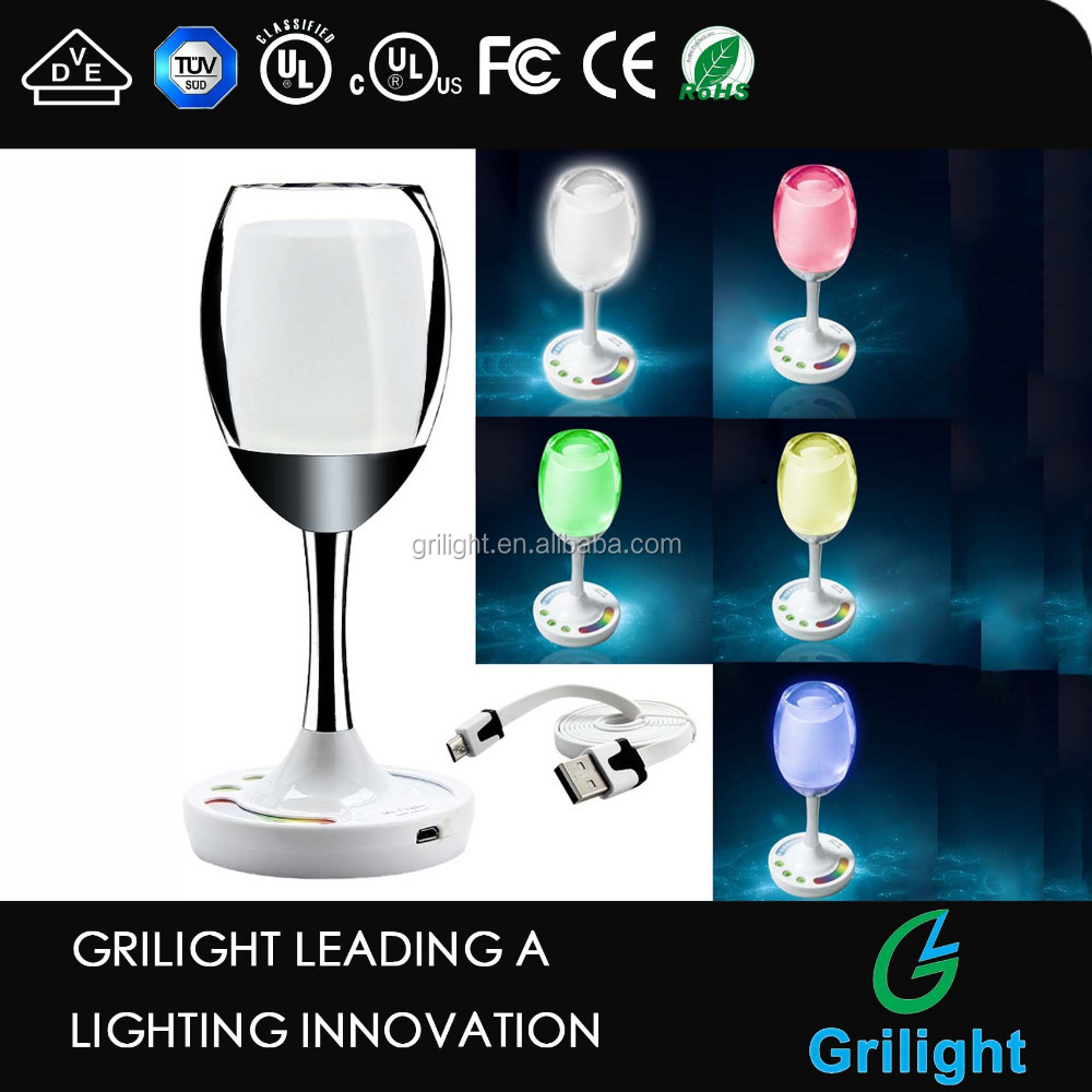 Led party lights wine cup wifi led bulb magic crystal glass rgbw 12v 2w bulb 2.4G usb led bulb