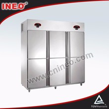 6 doors commercial restaurant fridge/restaurant deep freezer