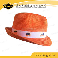 Custom Design Promotional Cowboys Hats Straw Hats